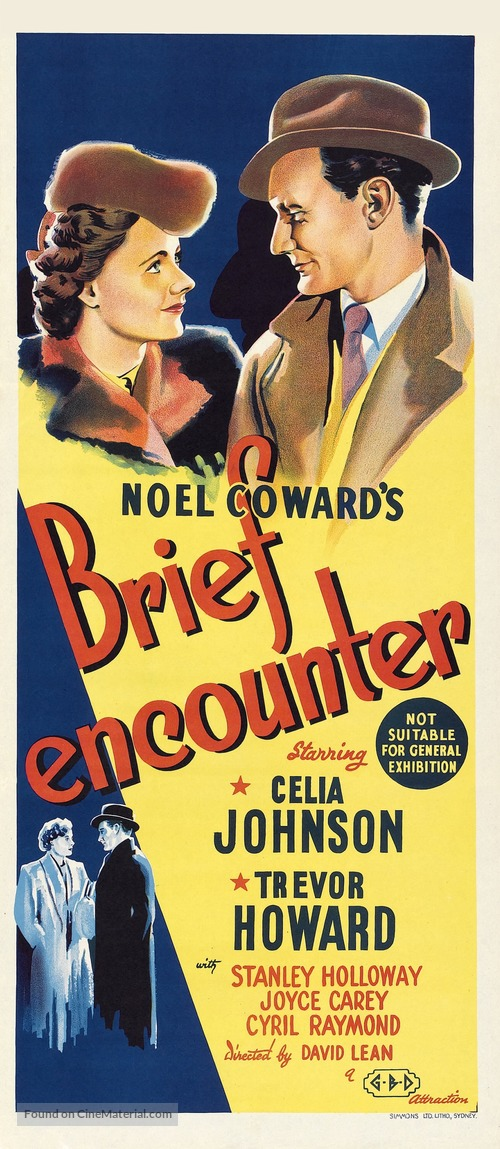 Brief Encounter - Australian Movie Poster