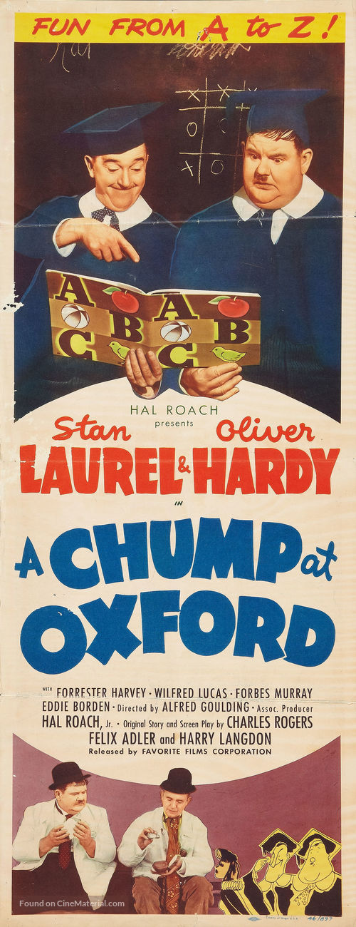A Chump at Oxford - Re-release poster