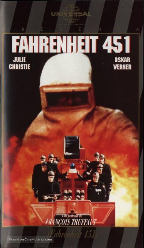 Fahrenheit 451 - Spanish DVD movie cover