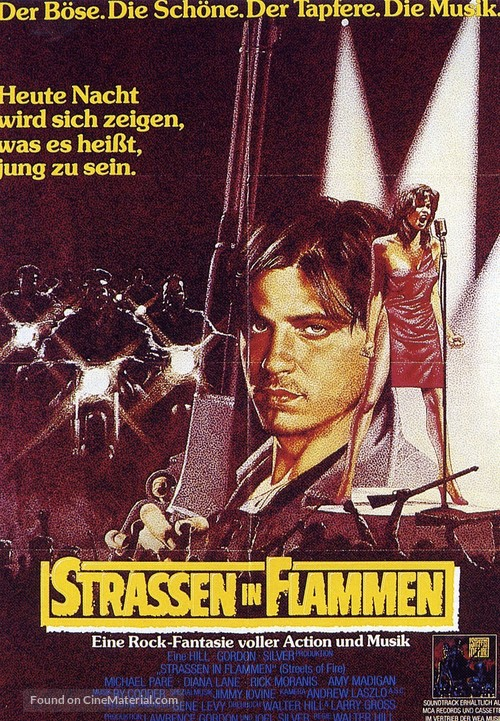Streets of Fire - German Movie Poster
