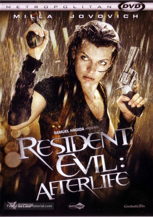 Resident Evil Afterlife 2010 French Dvd Movie Cover