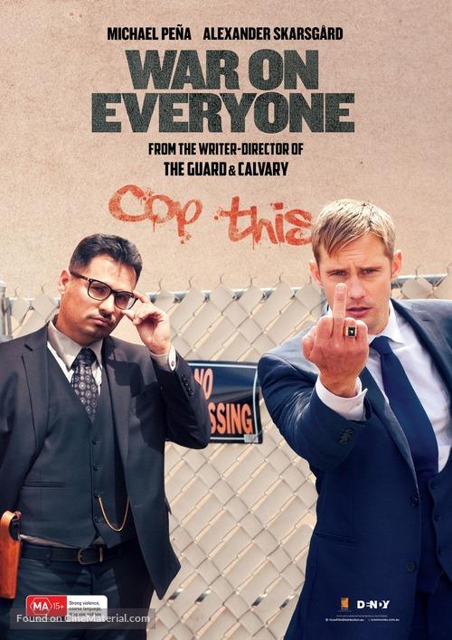 War on Everyone - Australian Movie Poster