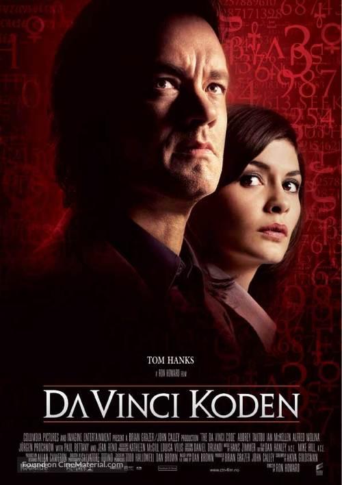 The Da Vinci Code - Norwegian Movie Poster