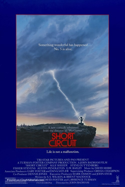Short Circuit - Theatrical movie poster