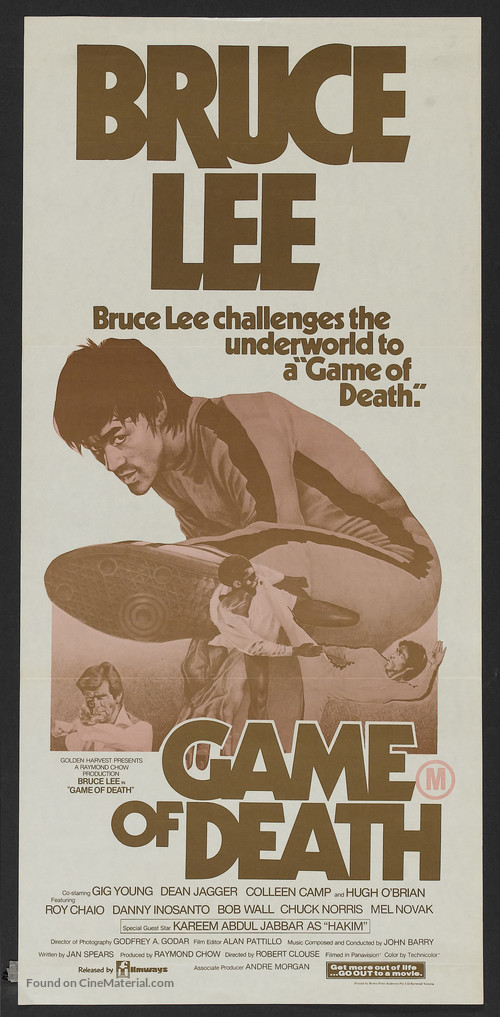 Game Of Death - Australian Movie Poster
