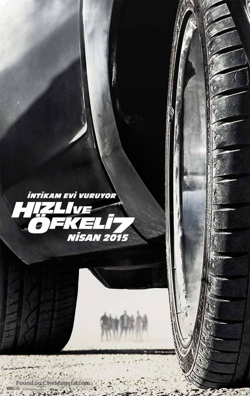 Furious 7 - Turkish Movie Poster