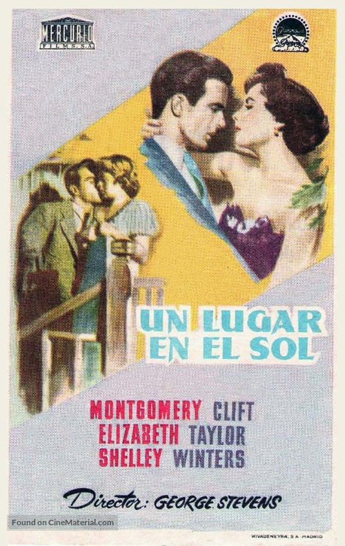 A Place in the Sun - Spanish Movie Poster