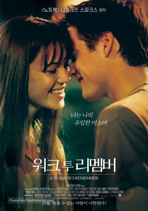 A Walk to Remember - South Korean Movie Poster