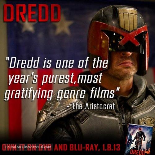 Dredd - Video release poster