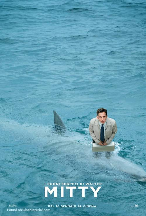 The Secret Life of Walter Mitty - Italian Movie Poster