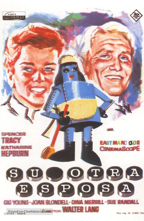 Desk Set (1957) Spanish movie poster