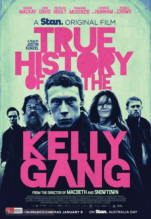 True History of the Kelly Gang - Australian Movie Poster