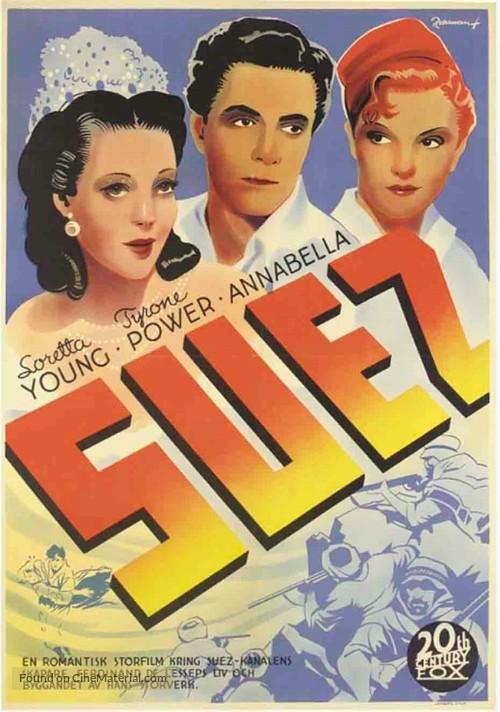 Suez - Swedish Movie Poster