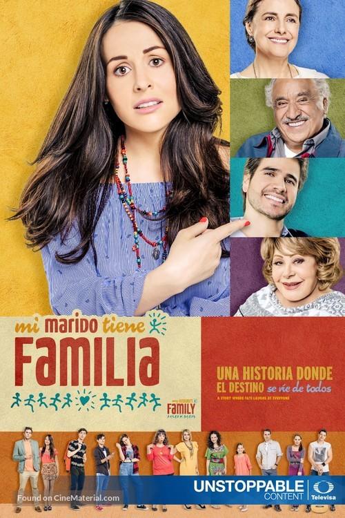 """""""Mi marido tiene familia"""" - Mexican Movie Poster"""