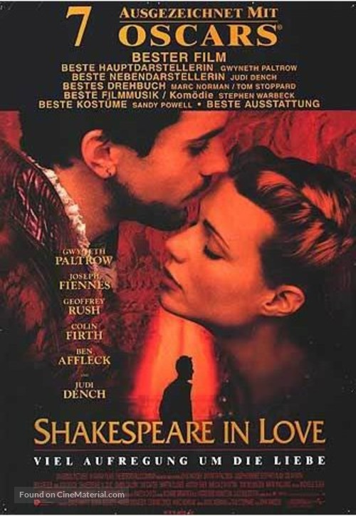 Shakespeare In Love - German Movie Poster