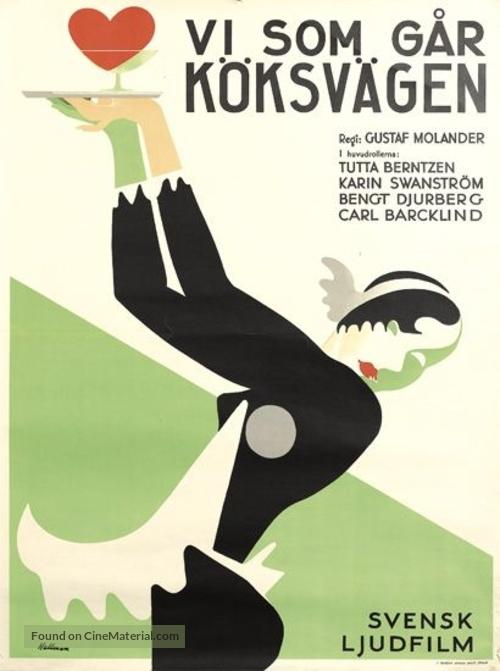 Vi som går köksvägen - Swedish Movie Poster