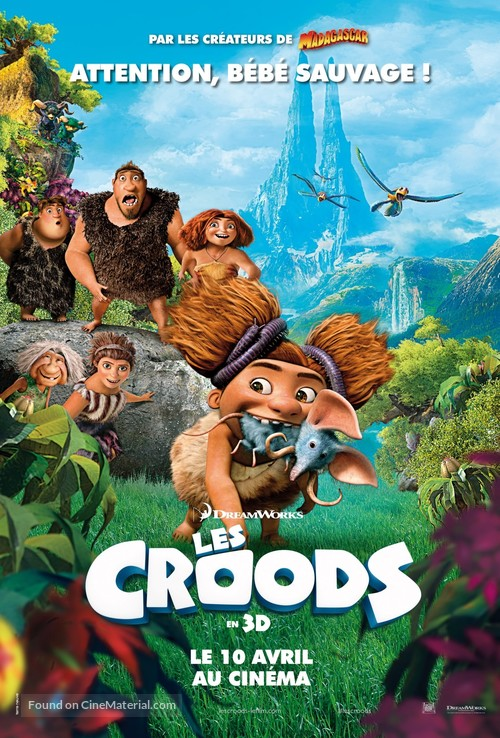 The Croods 2013 French Movie Poster