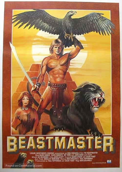 The Beastmaster - Swedish Movie Poster