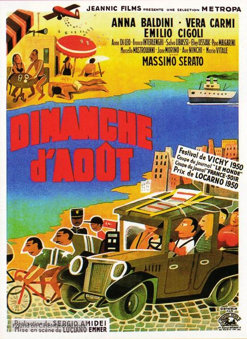 Domenica d'agosto - French Movie Poster