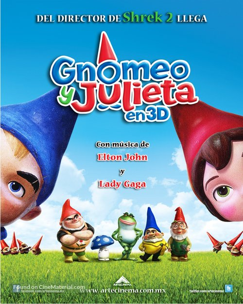 Gnomeo Juliet 2011 Mexican Movie Poster