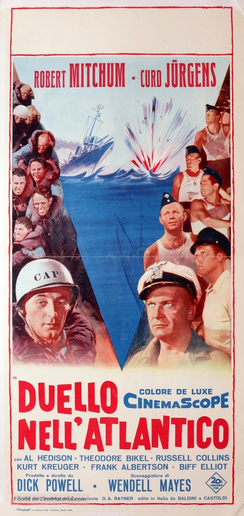 The Enemy Below - Italian Movie Poster