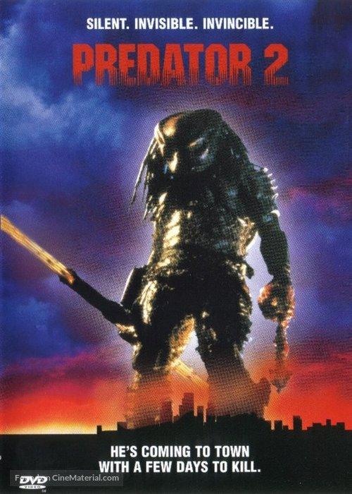 Predator 2 - DVD movie cover