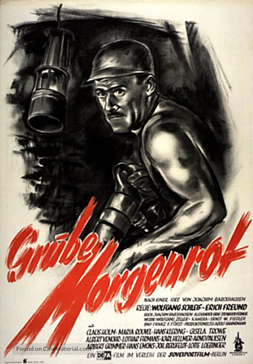 Grube Morgenrot - German Movie Poster