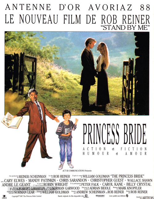 The Princess Bride - French Movie Poster