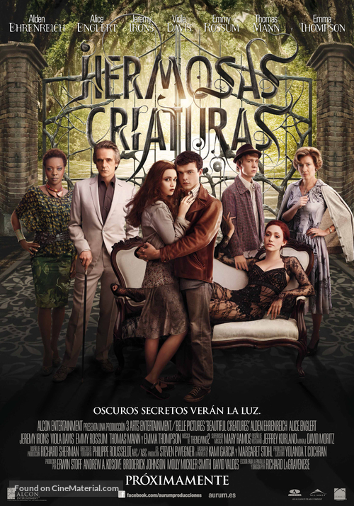Beautiful Creatures - Spanish Movie Poster