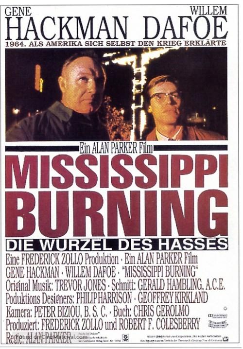 Mississippi Burning - German Movie Poster