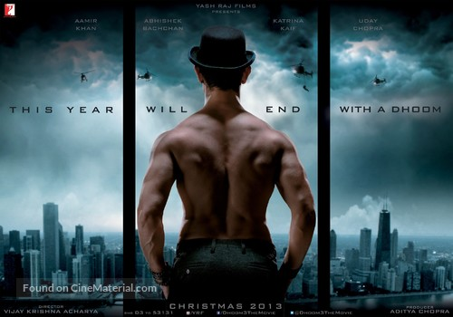 Dhoom 3 - Indian Movie Poster