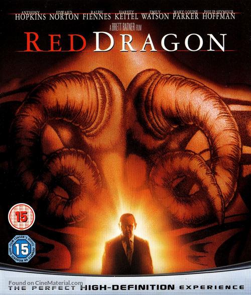Red Dragon 2002 British Blu Ray Movie Cover