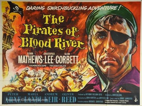 Pirates of Blood River - British Movie Poster