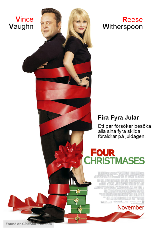Four Christmases - Swedish Movie Poster