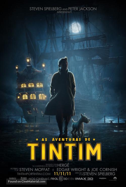 The Adventures of Tintin: The Secret of the Unicorn - Brazilian Movie Poster