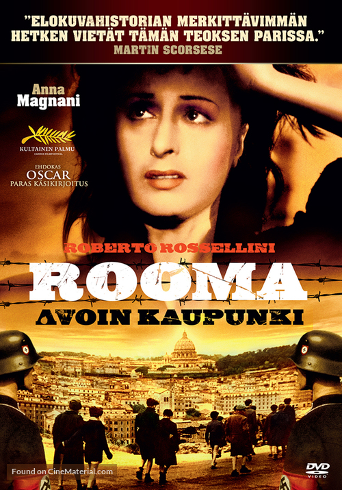 Roma, città aperta - Finnish DVD cover