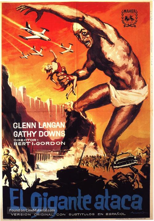 The Amazing Colossal Man - Spanish Movie Poster