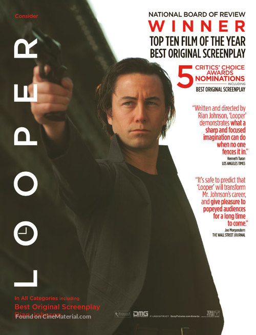 Looper - For your consideration movie poster