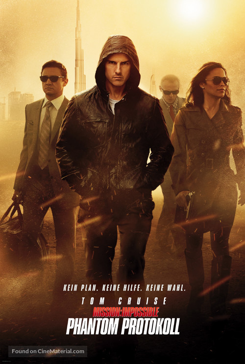 Mission: Impossible - Ghost Protocol - German Movie Poster