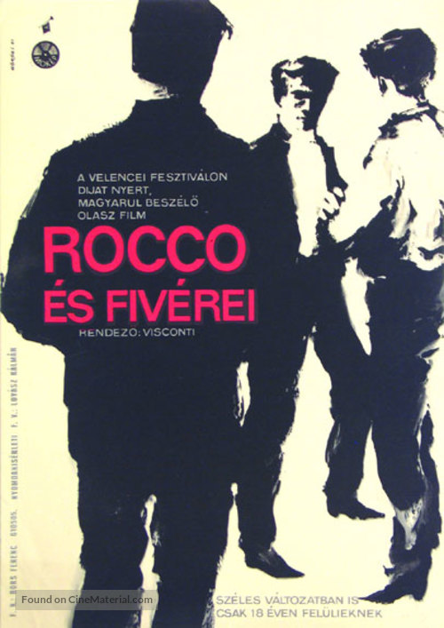 Rocco e i suoi fratelli - Hungarian Movie Poster