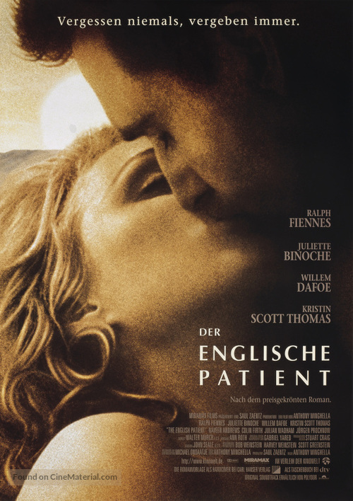 The English Patient - German Movie Poster
