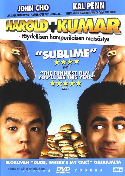Harold & Kumar Go to White Castle - Finnish DVD movie cover