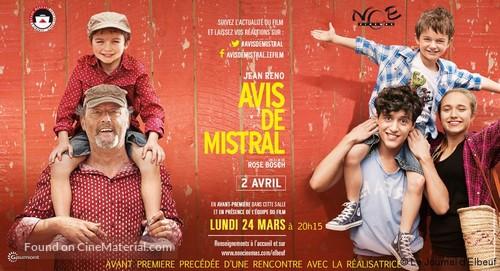 Avis de mistral - French Movie Poster