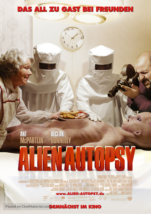 Alien Autopsy - German Movie Poster