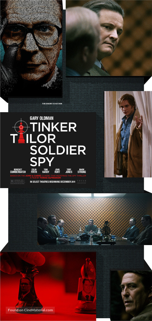 Tinker Tailor Soldier Spy - British Movie Poster