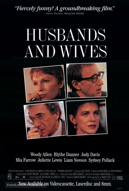 Husbands and Wives - Video release movie poster