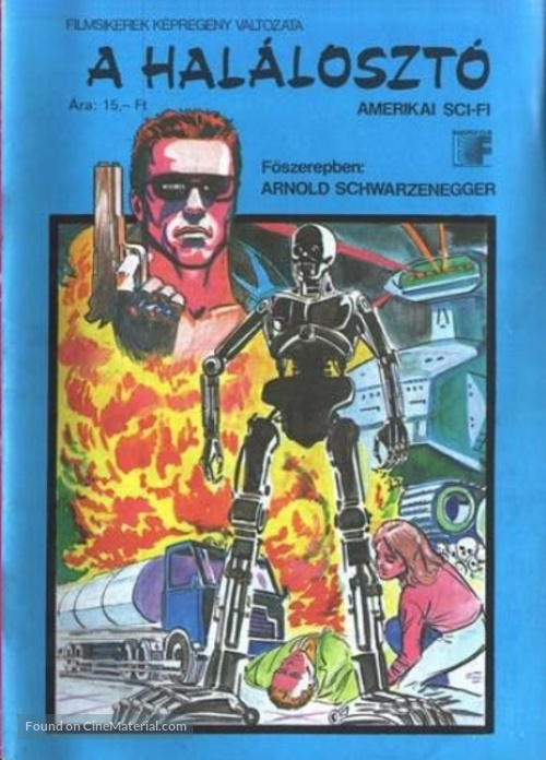 The Terminator - Hungarian Movie Cover