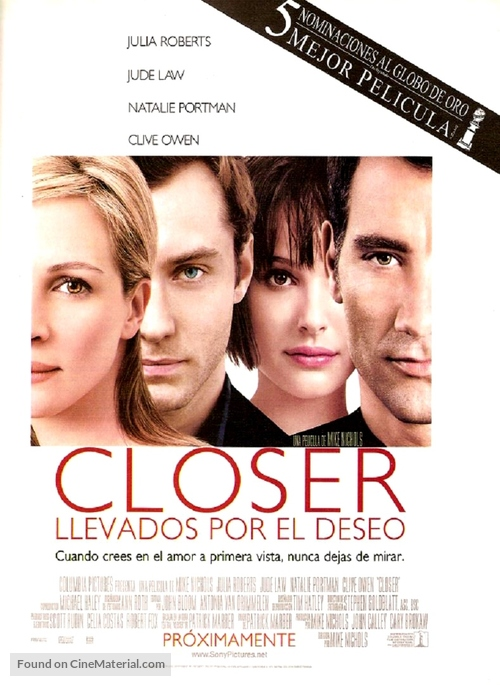 Closer - Argentinian poster