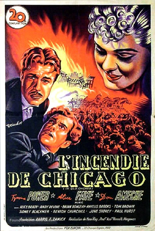 In Old Chicago - French Movie Poster
