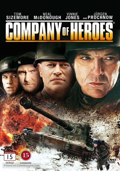 Company of Heroes - Danish DVD cover